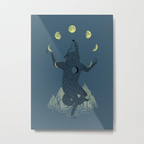 Moon Juggler Metal Print