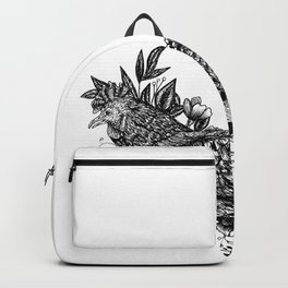 Rooster in leaves Backpack