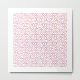 Little Pink Hearts Metal Print