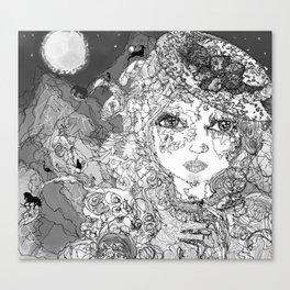 Rose's Secret * B&W Canvas Print