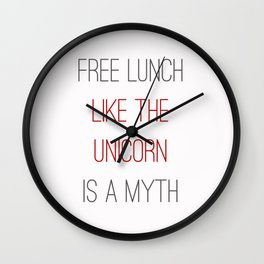 FREE LUNCH 1 Wall Clock