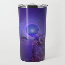 The Owl and the Purple Moon Travel Mug