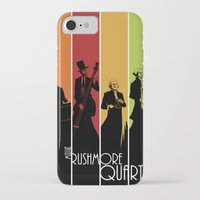 rushmore iPhone & iPod Cases featuring The Mt. Rushmore Quartet by Alan Bao