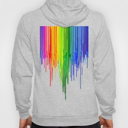 Rainbow Paint Drops on Black Hoody