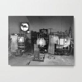 Glass Blowing Studio Metal Print