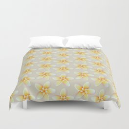 Yellow Flower, Floral Pattern, Yellow Blossom Duvet Cover