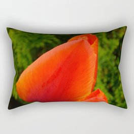 Red Flame Tulip by Teresa Thompson Rectangular Pillow