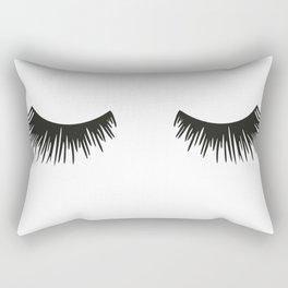 Closed Eyelashes Rectangular Pillow