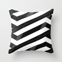 Crunchy Lines, No. 6 Throw Pillow