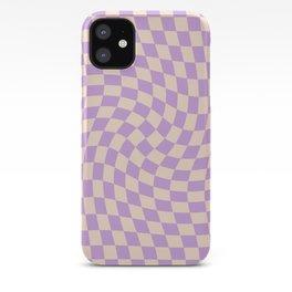 Check V - Lilac Twist — Checkerboard Print iPhone Case
