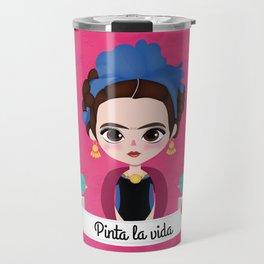 """Frida """"Pinta la vida"""" Travel Mug"""