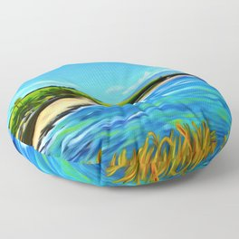 Hoʻokipa Noon Floor Pillow