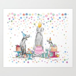 PARTY WEIMS Art Print