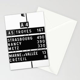 490 km to Strasbourg - The Polaroid Project Stationery Cards