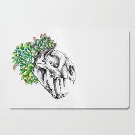Rock Rose Cat Skull Cutting Board