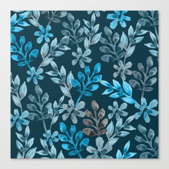 Leaf pattern III Canvas Print