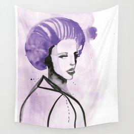 Purple Hair in Purple Haze Wall Tapestry