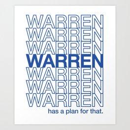 Thank You Elizabeth Warren Art Print
