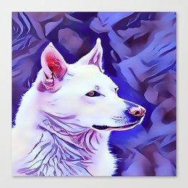 The White German Shepherd Canvas Print