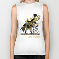 peru Biker Tanks featuring Ancient Peru - Sipan by Franco Olivera