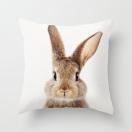 Baby Rabbit, Baby Animals Art Print By Synplus Throw Pillow