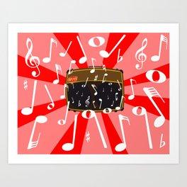 Musical Noise Art Print