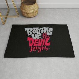 Bottoms Up & The Devil Laughs Rug