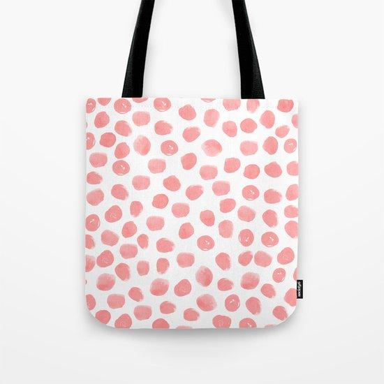 Natalia - abstract dot painting dots polka dot minimal modern gender neutral art decor Tote Bag