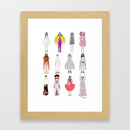 Outfits of Bjork Fashion Framed Art Print