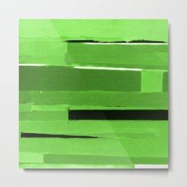 Green Monochromatic Metal Print