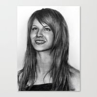 hayley williams Canvas Prints featuring Hayley Williams by ''Befne''