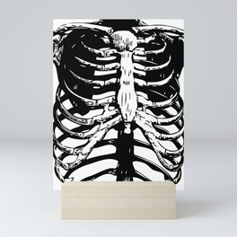 Skeleton Ribs   Skeletons   Rib Cage   Human Anatomy   Black and White   Mini Art Print