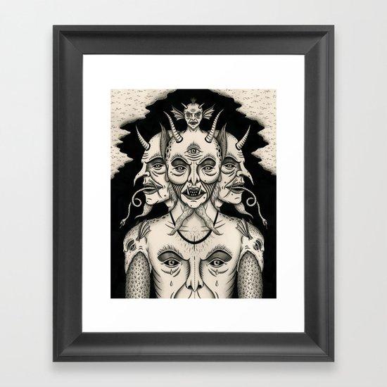 Weeping Demon Framed Art Print