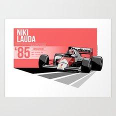 Niki Lauda - 1985 Zandvoort Art Print