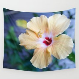 White Hibiscus Wall Tapestry