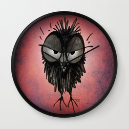 Grumpy Owl Wall Clock