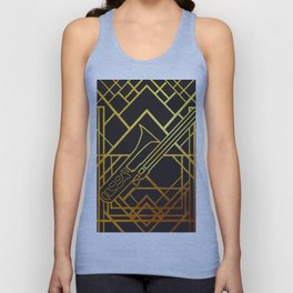 Art Deco Basun Unisex Tank Top