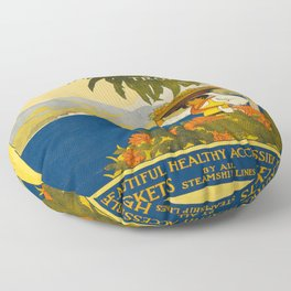 Vintage poster - Jamaica Floor Pillow