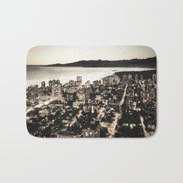 Voyeuristic 1378 Vancouver Cityscape English Bay Twilight Bath Mat