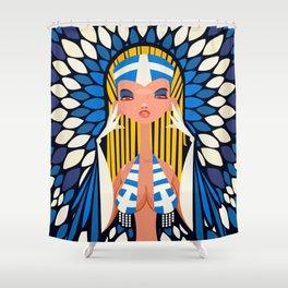 FIFA 2014 Samba Girls Series: Greece Shower Curtain