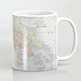 Vintage Map of Greece (1901) Coffee Mug