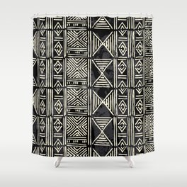 Tribal mud cloth pattern Shower Curtain