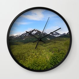 Summer Greens II Wall Clock