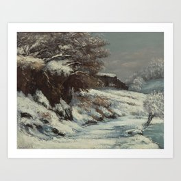 Winter by Gustave Courbet, 1870 Art Print