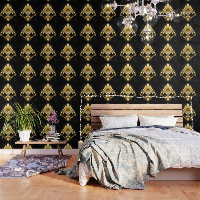 Golden Fleur De Lis Wallpaper By Blackmoon9