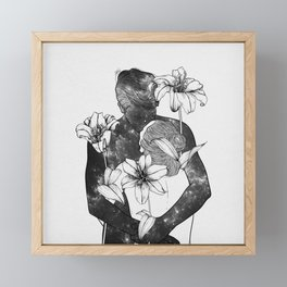 You are my flowery drug. Framed Mini Art Print