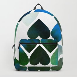 Mod Blue Hearts Backpack