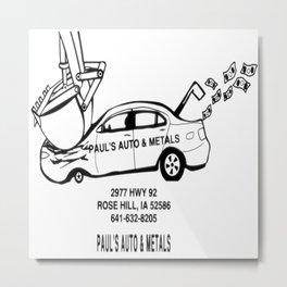 Paul's Auto & Metals Metal Print