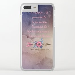 LILY & ATLAS . COLLEN HOOVER Clear iPhone Case