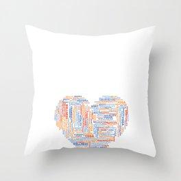 Positive Yoga Heart  Throw Pillow